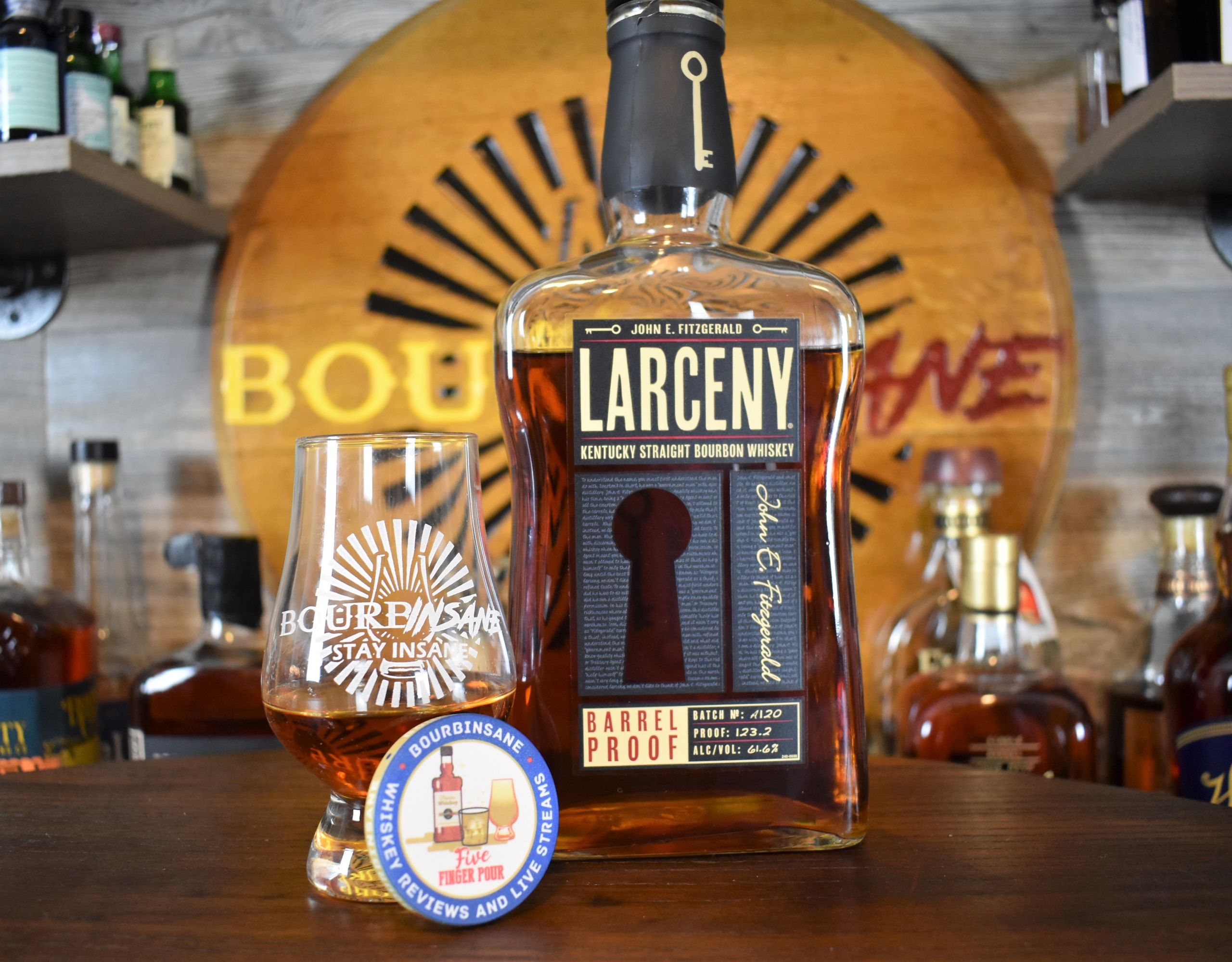 Larceny Barrel Proof Kentucky Straight Bourbon Whiskey Batch A120
