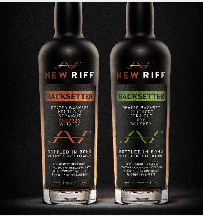 New Riff Backsetter Peated Backset Bourbon & Rye Whiskeys
