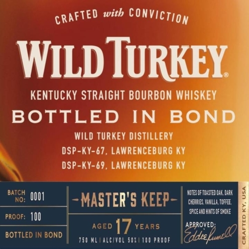 Wild Turkey Master Keep 17 Year Bottled in Bond has Arrived!